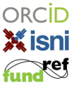 ORCID, ISNI, FundRef logos